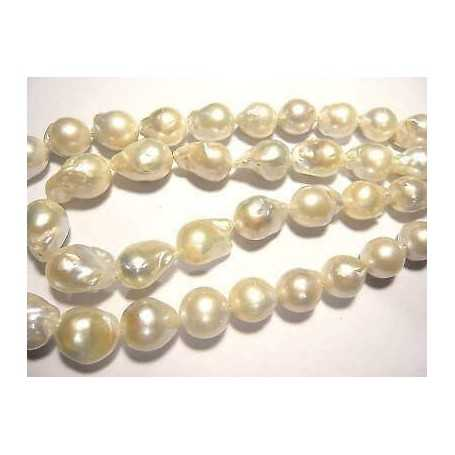 PEARLS, NATURAL 320 CT WIRE 36 CM DIAMETER, 13 EXTRA