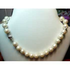 PEARLS SCARAMAZZE BAROQUE 440 CARATS MIS. 14 AA CLOSURE IN RHODIUM-PLATED SILVER GOLD