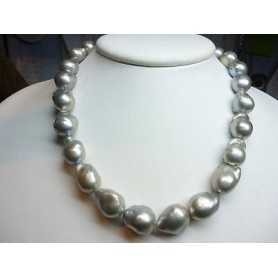 NECKLACE WIRE BEADS SCARAMAZZE GREY DIAMETER 14 to 18 mm