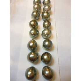 PEARLS TAHITIAN DROP THEM A PERFECT 10.0 MM CT 27 CAR.CERTIFIED