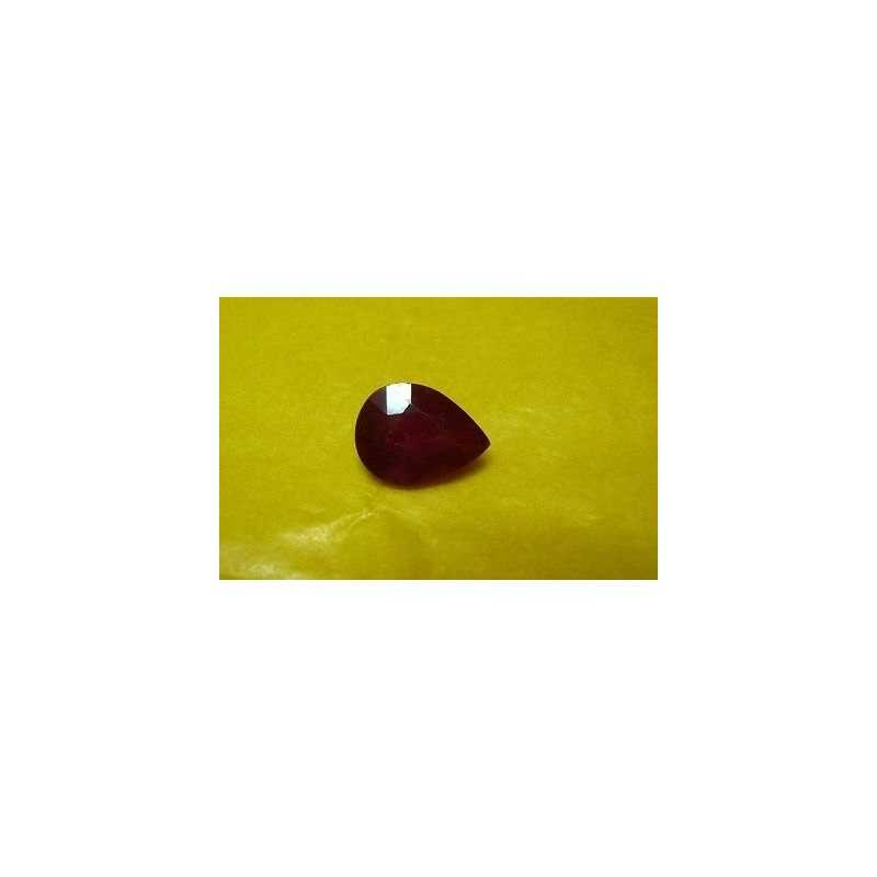 RUBY DROP 1.65 CARAT BURMESE SIZE 6 X 9