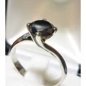SOLITAIRE RING with DIAMOND Ct 1.45 VS clarity, BLACK Color