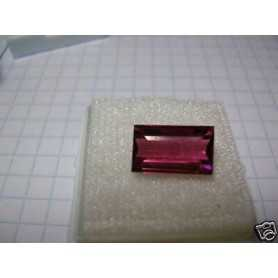 RED TOURMALINE 2 .43 CARATS OCTAGON FIRST QUALITY