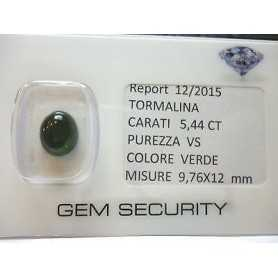 GREEN TOURMALINE OVAL CABOSCHON 5,44 CT LOT 45