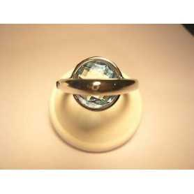 RING OF BENETTON BLUE TOPAZ SILVER MEASURES 12