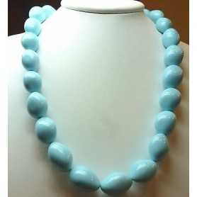NECKLACE TURQUOISE EXTRA QUALITY with DIAMETER 17 LENGTH 62 cm, WEIGHT 770 Carats