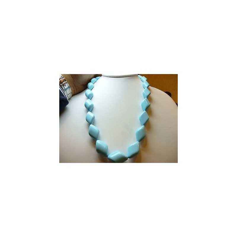 NECKLACE TURQUOISE EXTRA QUALITY with a DIAMETER of 22 LENGTH 60 cm WEIGHT: 570 Carats