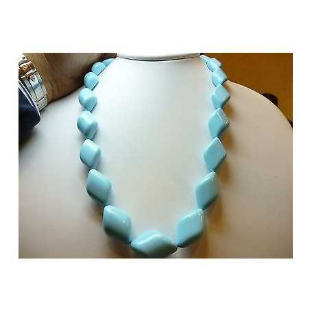 EXTRA quality turquoise necklace with diameter 22 length 60 cm Weight 570 carats