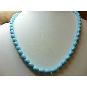 NECKLACE TURQUOISE EXTRA QUALITY with a DIAMETER 6,5 LENGTH 50 cm, WEIGHT 170 Carat