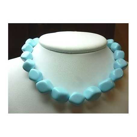 NECKLACE TURQUOISE EXTRA QUALITY LENGTH 37 cm, WEIGHT 170 Carat
