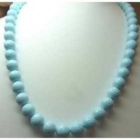 NECKLACE of TURQUOISE, DIAMETER 10mm EXTRA QUALITY LENGTH 50 cm, WEIGHT 360 Carats