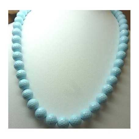 Turquoise necklace diameter 10mm EXTRA quality length 50cm weight 360 carats