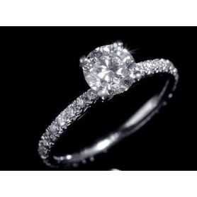 BAGUE DE DIAMANTS DE 0,82 CARAT BAGUE DE MARIAGE BAGUE EN OR 18 KT SEXE ET LA VILLE 1.0 0.50 1.50