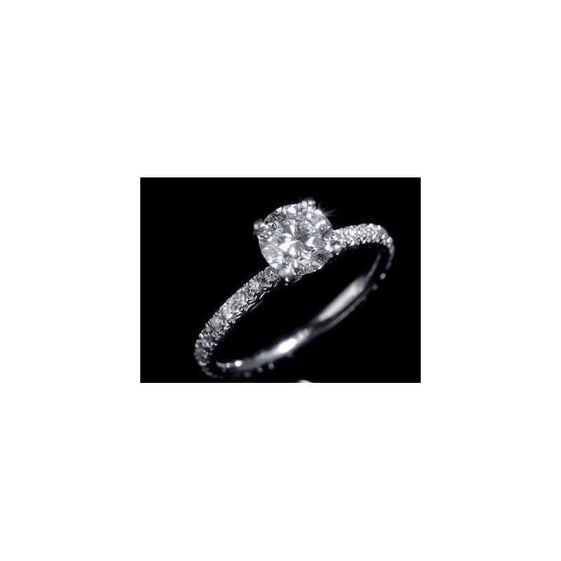 ANELLO DIAMANTI 0.82 CARATI FEDINA VERETTA ORO 18 KT SEX AND CITY 1.0 0.50 1.50
