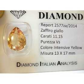 YELLOW SAPPHIRE DROP 11.15 CARATS 2.0 3.0 5.0 6.0 7 50% discount