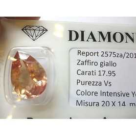 YELLOW SAPPHIRE DROP 17.95 CARATS 2.0 3.0 5.0 6.0 7 50% discount