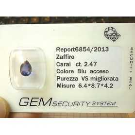SAPPHIRE drop 2.47 CT LOT 2.0 3.0 4.0 5.0 the LAST 50% DISCOUNT