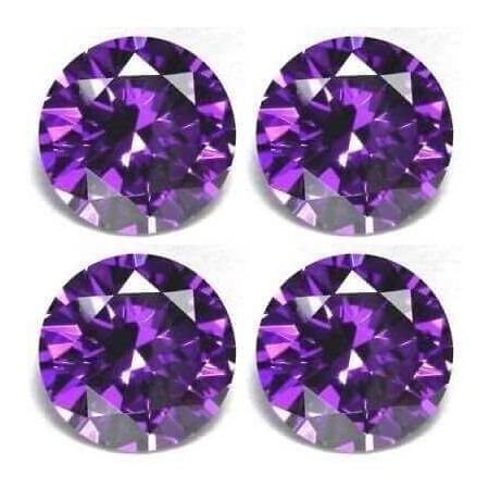 Dark purple zircon brilliant cut 6.5 carat 10 mm