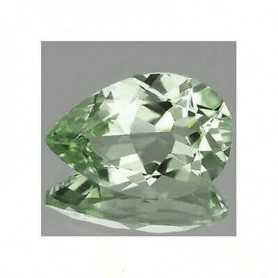 GREEN AMETHYST 3.65-carat drop-cut montezuma