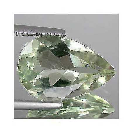 GREEN AMETHYST 4.0 carat drop-cut montezuma