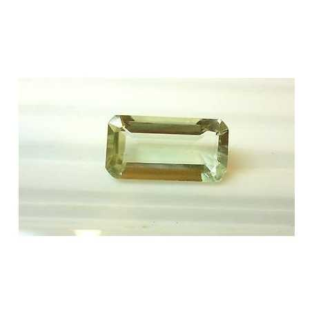 GREEN AMETHYST 7.55-carat emerald-cut montezuma