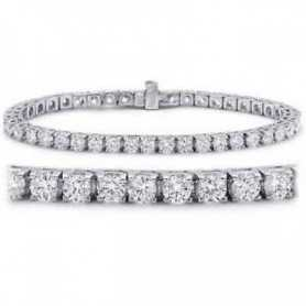 TENNIS BRACELET EN OR 18 KT DIAMANTS VVS G COULEUR 10.0 CARAT GR.15.0 LOTTO 15.0