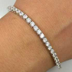 TENNIS BRACELET EN OR 18 KT DIAMANTS VVS G COULEUR 7.80 CT GR.12.00 LOTO 15.0