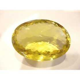 CITRINE YELLOW OVAL BRIOLE 96 CARAT 37x27mm
