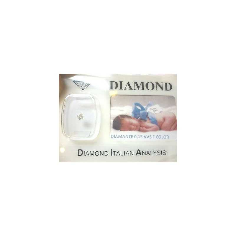 DIAMANTE 0.15 CARATI VVS F color in blister personalizzabile e scatola regalo