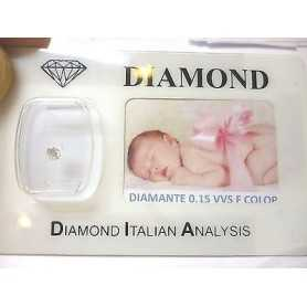DIAMANTE 0.15 vvs F color blister personalizzabile scatola regalo