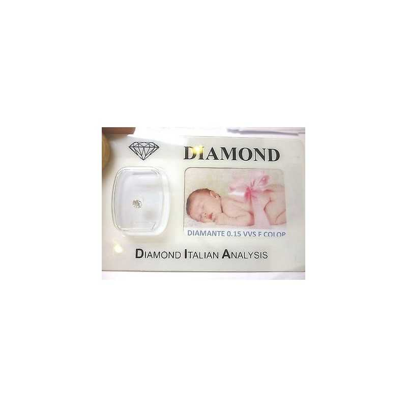 DIAMOND 0.15 vvs F color blister customizable gift box