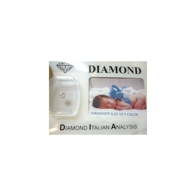 DIAMOND 0.25 vs F color blister customizable gift box