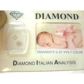 DIAMANT de 0,25 vvs F couleur blister boîte-cadeau personnalisable