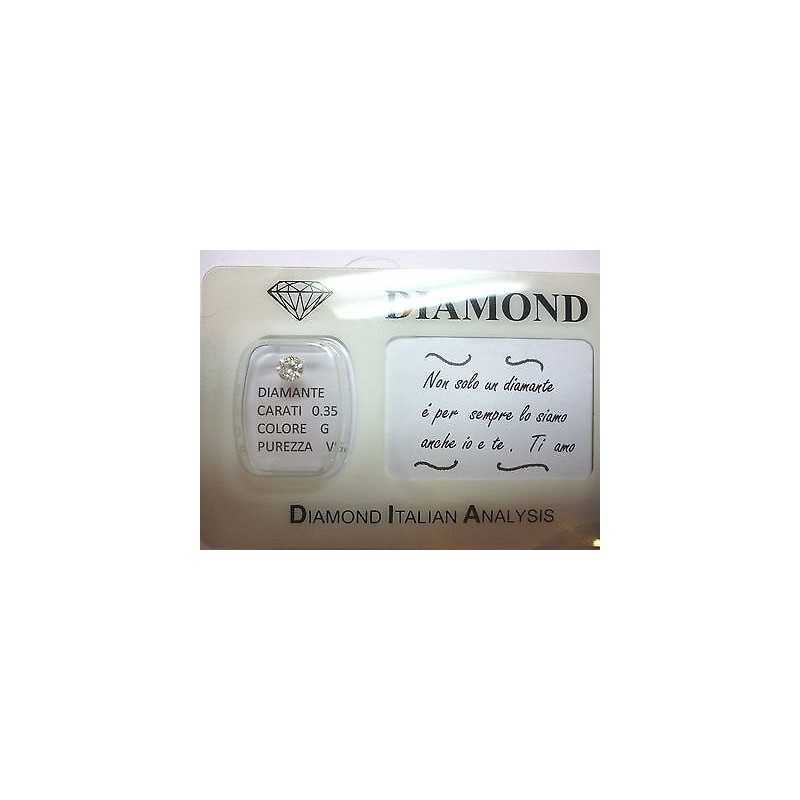 DIAMANTE 0.35 vs g color blister personalizzabile scatola regalo