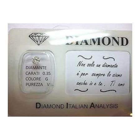 DIAMOND 0.35 vs g color blister customizable gift box