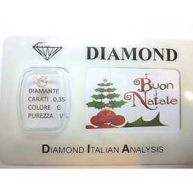 DIAMANTE 0.35 ct vs G color in Blister personalizzabile con scatola regalo
