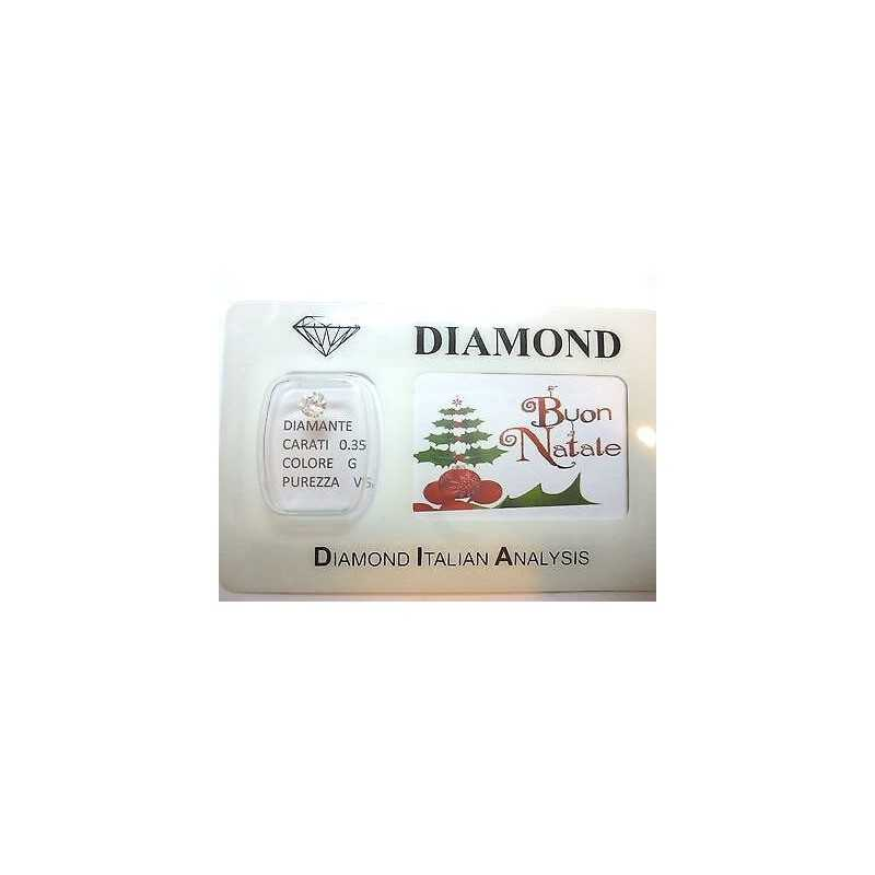 DIAMOND 0.35 ct vs G color Blister customizable gift box