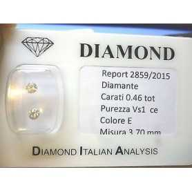 Paire de diamants sous blister 0,46 total