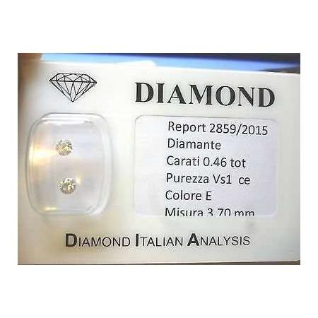 Paire de diamants sous blister 0,46 total