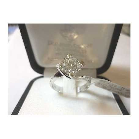 RING DIAMOND CARAT 1.37 VVS1 M COLOR GOLD 18 KT GR 10,80 LOT 1,00