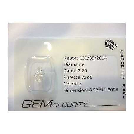 Diamant 2.20 ct marquise