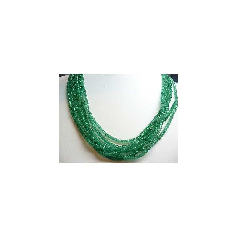 NATURAL EMERALD WIRE SINGLE MEASURE 4 mm WEIGHT 45 CARATS, the LONG 42 CM DISCOUNT 50 %