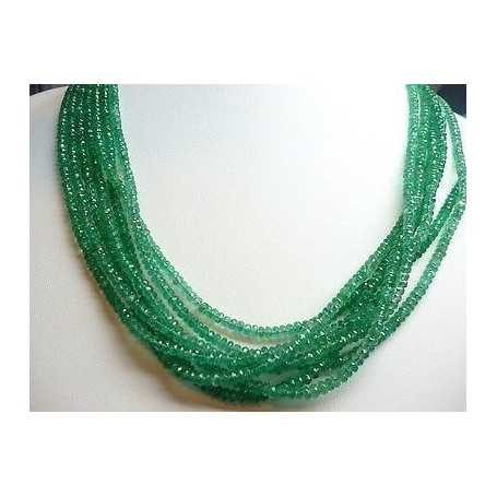 Natural emerald single wire measure 4mm weight 45 carat long 42cm discount 50 %