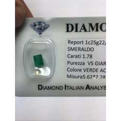BRILLIANT EMERALD COLOMBIA 1.78 CARAT EXTRA 1.00 1.50 0.50 2.00