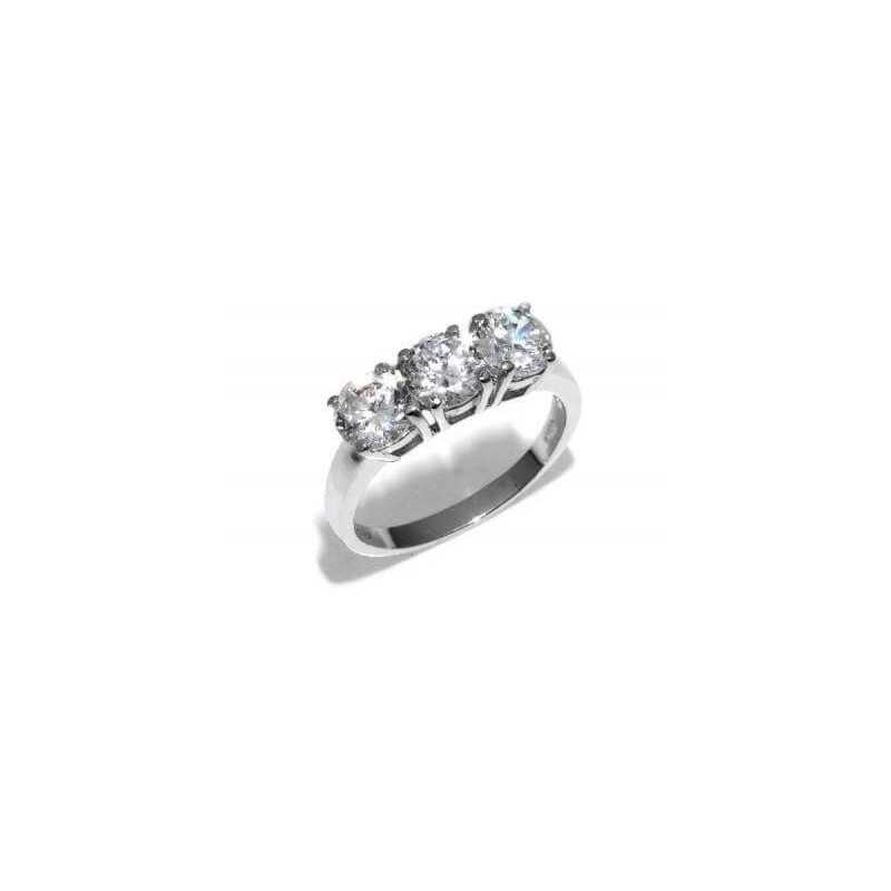 ANELLO TRILOGY DIAMANTE 1.50 CT di COLORE G e PUREZZA VS 1