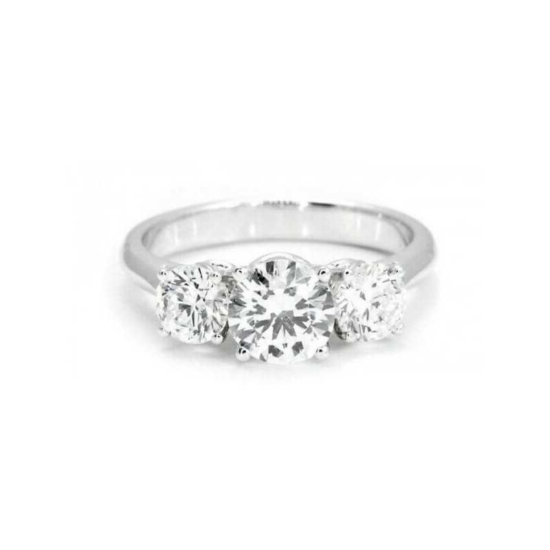 TRILOGY RING 1.50 CARATS, COLOUR F AND VVS CLARITY 1