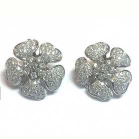 earrings in gold 18 kt with diamonds 3.30 kt vvs f color
