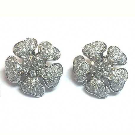 boucles d'oreilles en or 18 kt avec des diamants 3.30 kt vvs f couleur