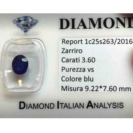 BRIGHT BLUE SAPPHIRE OVAL CUT 3.60 CARATS LOT 4.00