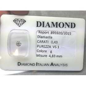 Diamante in blister da 0,43